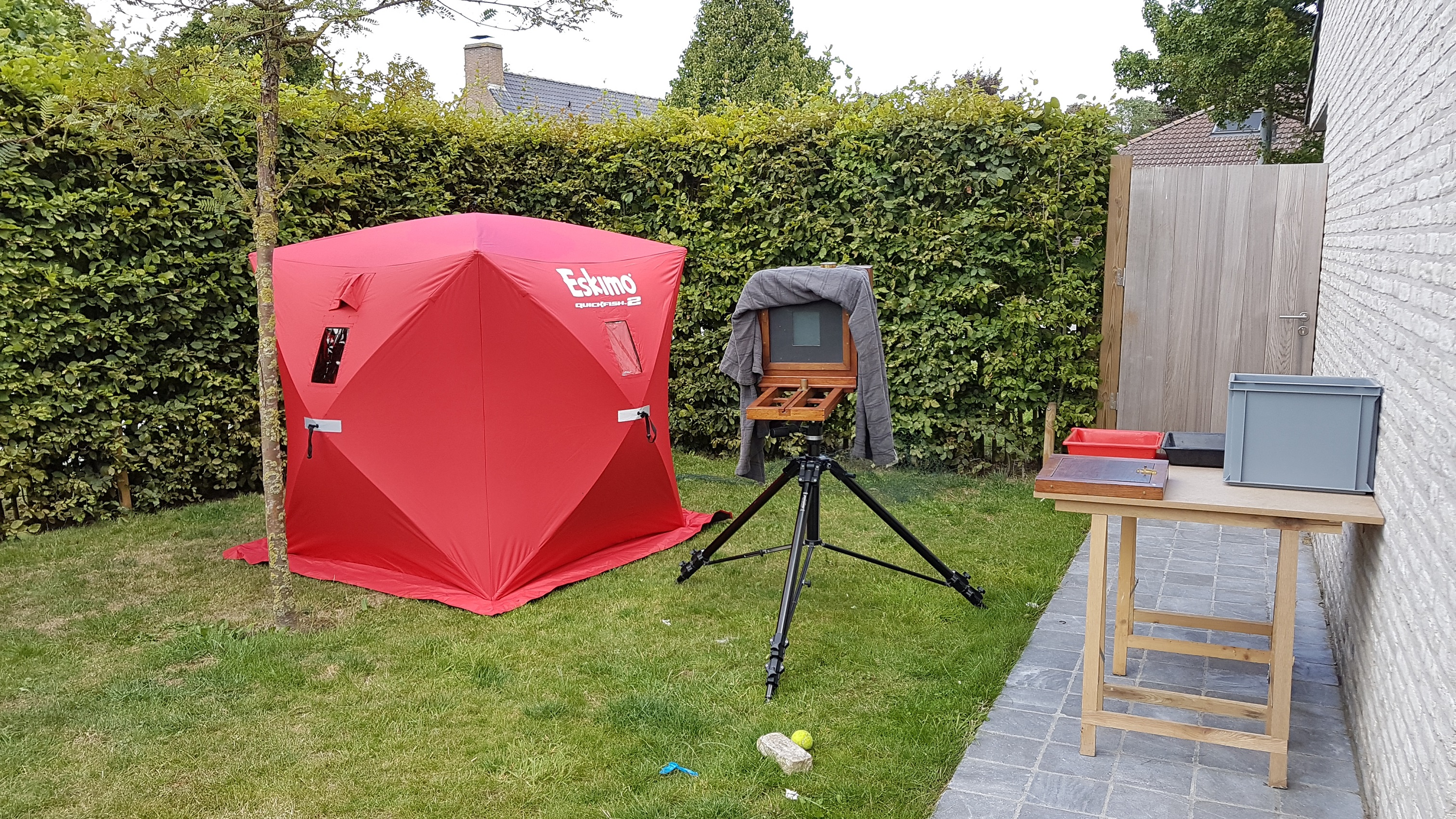 outdoor 'studio' setup